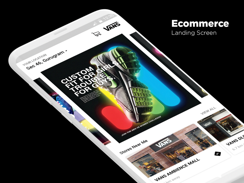 E commerce Landing Screen Ui Concept