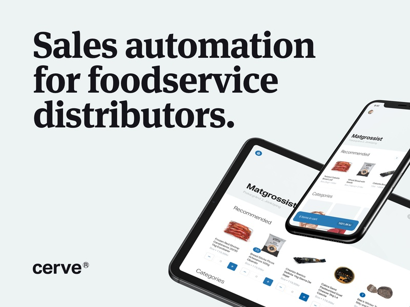 New website coming soon   Cerve minimal minimalism typography automation sales food ux mobile ui website