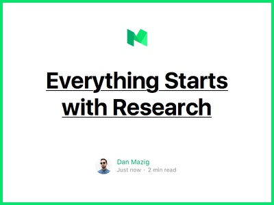 Everything Starts with Research medium blog ui ux research