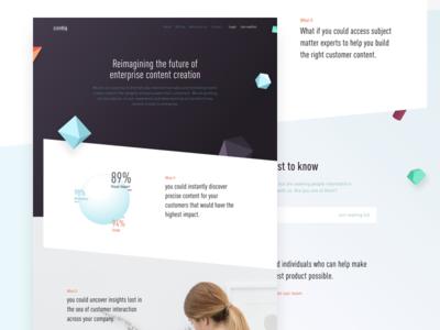 Content Creation Exploration parameters 3d branding website marketing content
