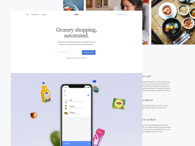 Mart's Website Coming soon marketing desktop website automated list shopping list grocery mart