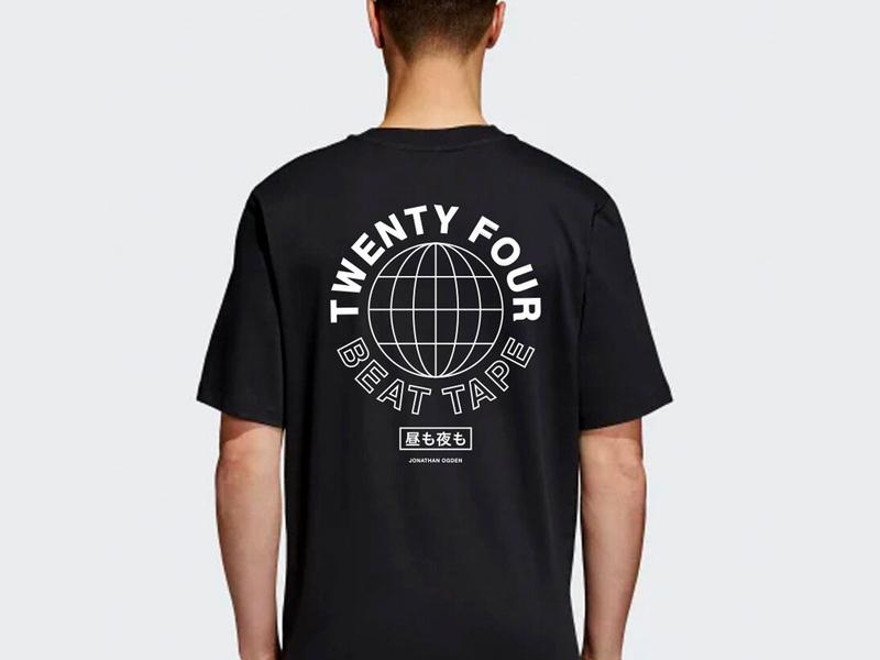 Twenty Four T-Shirt typography minimal clothing apparel design merch tee t-shirt apparel
