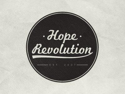 Hope Revolution logo retro swishy