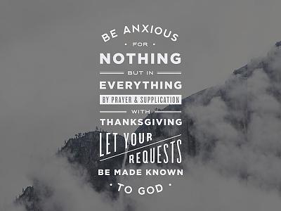 Philippians 4:6 typography verse bible