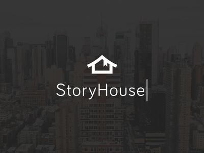 StoryHouse Branding bariol symbol house book story logo branding design