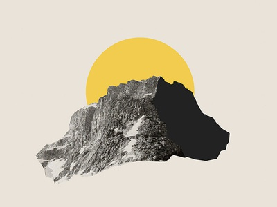 Ascend minimal simple mountain collage