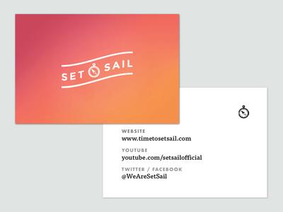 Set Sail Cards ff tisa futura branding logo gradient business card cards vlog