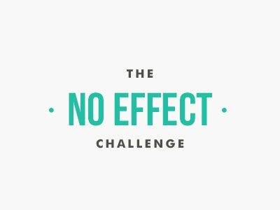 The 'No Effect' Challenge competition playoff no effect bebas neue futura