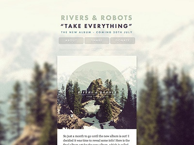 Take Everything - Blog Refresh blog update website music futura baskerville rivers robots parallax tumblr