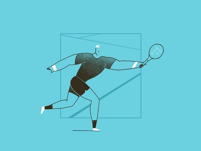 Tennis and body building? design character sports tennis illustration