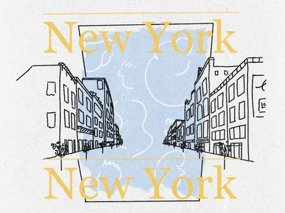 people and places typography procreate illustration new york