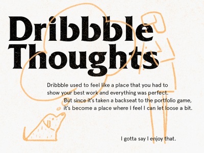 some thoughts thinking dribbble typogaphy illustration