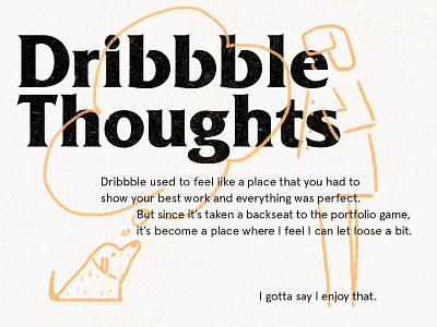 some thoughts thinking dribbble typogaphy illustration