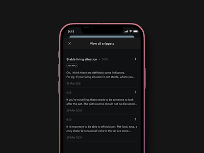 Modal window-New podcast feature for Spotify ios app navigation bar copy ux timestamp signifier dividers music app ui modal window dark mode podcast spotify music app list ui product design uiux clean ui ux button design uxdesign app design user interface