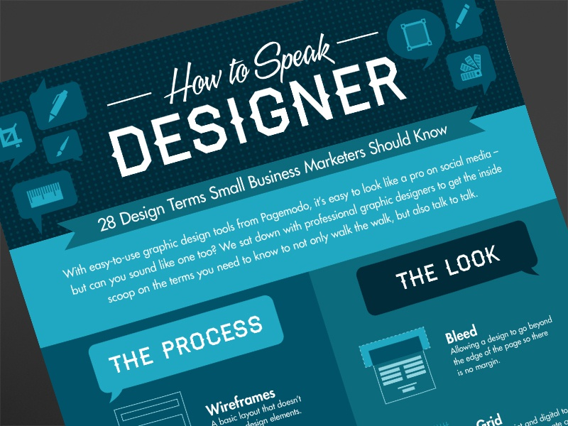 How to Speak Designer Infographic infographic infographics stats data data visualization graphic design flat
