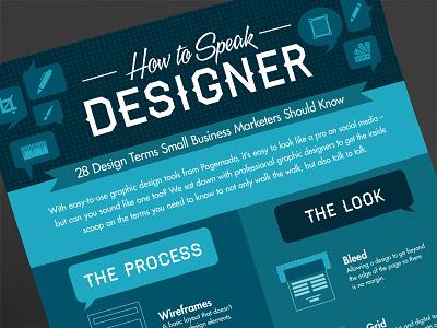 How to Speak Designer Infographic infographic infographics stats data data visualization graphic design flat