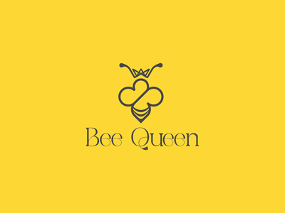 Bee Queen minimal logo logotype logomark logodesinger logomaker logodesigns logodesigner logodesign logo minimal minimalist logo queen logo bee logo beelogo