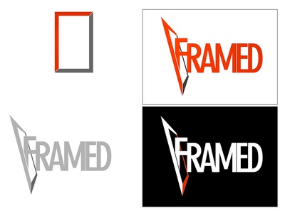Framed typography graphic design old work throwback adobe photoshop adobe illustrator title tv show framed logo