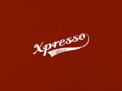 Xpresso Logotype  branding typography handmade marketing logo