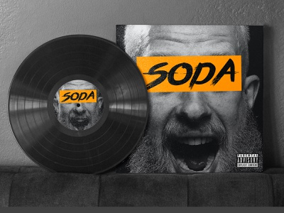 Soda Music Cover Design ux illustrator design typography high end topical rexord luxury music coffee cup colourful bean badge parrot packaging design vinyl cover album brand identity branding logo