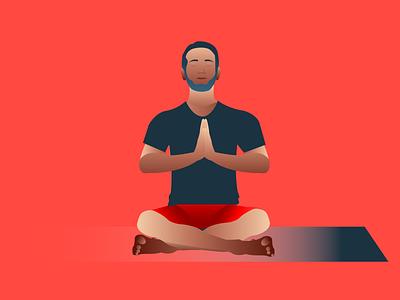 Chakra Tune-Up: #1 Muladhara root chakra yoga design illustration vector