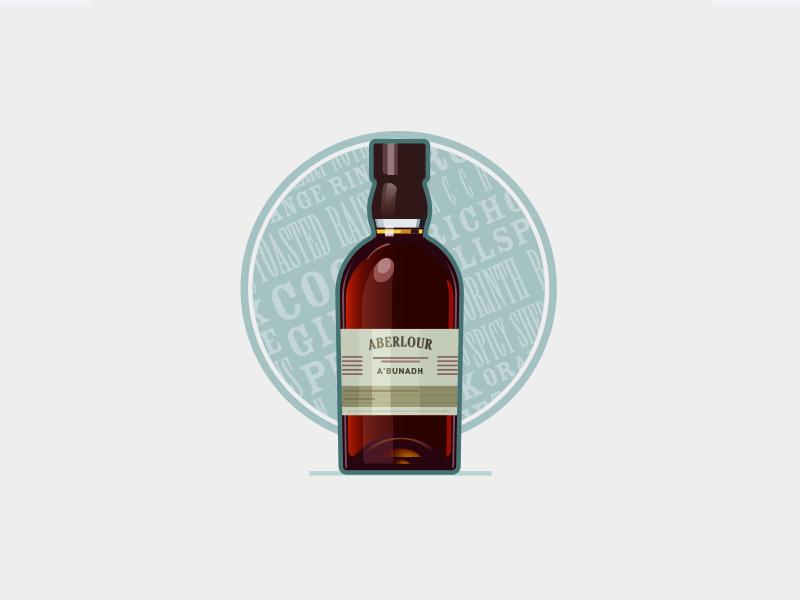 Aberlour A'bunadh craig cullimore vancouver dram scotch design illustration whisky