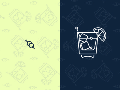 Cocktails at Siggraph symbol cullimore vancouver tile illustration design olives cocktail iconography icon