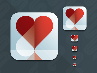 App Icon DailyUI  #005 symbol vector sketch logo illustration graphic design cullimore canada vancouver design ui design ux uidesign ui ios peel heart icon app icon app