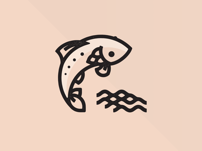 So long and thanks for all the fish! stamp flat branding logo 2d vector graphic symbol design graphic design illustration icon