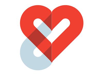 Personal Identity monogram illustration heart symbol typography flat empathy emotion branding vector graphic identity logo cullimore design icon