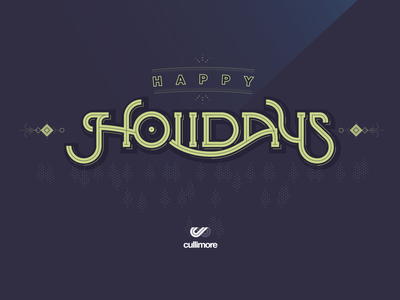 Holiday Cheer! iconography flat cullimore vancouver holiday lettering type illustration branding logo typography vector graphic design icon design