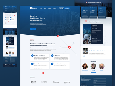 Statebook Refresh limina texture dark blue dark cards ui cards illustration blue white typography desktop clean ui design