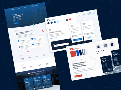 Statebook Style Tiles texture dark dark blue executive simple ui limina color palette palette cards ui cards card white blue branding typography clean design style tiles style tile