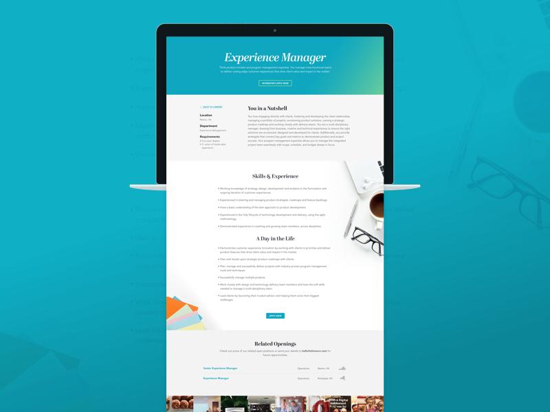 Job Posting Page apply jobs clean gradient ui ux design