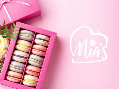 Mia's Sweet Baking bakery logo bakery baking sweets sweet logo design logodesign cake logo cake shop cakery cakes cake logo illustration design branding design branding brand identity brand design brand
