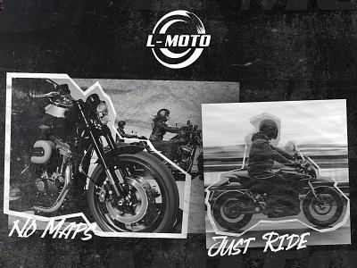 L-MOTO LOGO DESIGN poster logo design moto motor motorbikelogo motorcycle motorbike logodesign graphic design vector illustration logo design branding design brand design brand brand identity branding