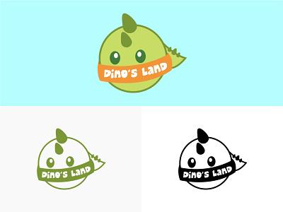 Dino's Land - (LOGO DESIGN) drawing graphic design animation vector illustration logo design branding design branding brand identity brand design brand