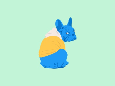 Dog Illustration animation branding brand identity designs creative flyer sketchbook blue dogs dog vector posterart poster logo design sketch pencil draw illustration