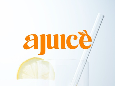 AJUICE  - LOGO DESIGN drink fruits logodesign logos poster minimal juice fruit orange motion graphics graphic design vector illustration logo design branding design brand design brand branding brand identity