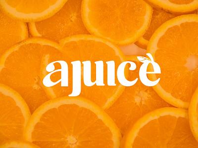 AJUICE - (LOGO DESIGN) drink fruit juice logodesign logos posterart poster minimal orange motion graphics graphic design vector illustration logo design branding design brand design brand branding brand identity