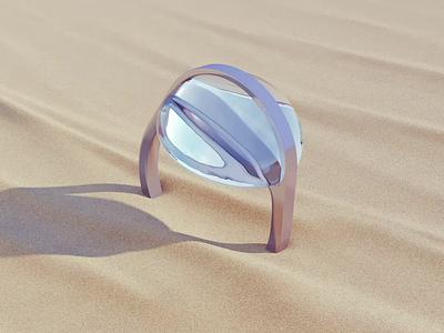 Prime meridian 3d animation 3d modeling wave water sand ring desert c4d motion design cg animation corona render 3ds max