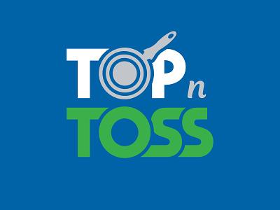 Top 'N' Toss logo design logo cooking cookware