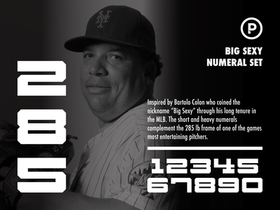 Big Sexy Numeral Set baseball vector design typography sport number sport font sports numeral big sexy