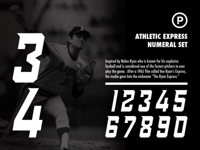 Athletic Express Numeral Set numerals sports number sports font baseball vector design branding sports typography