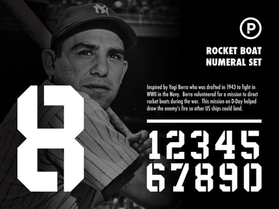 Rocket Boat Numeral Set sports numbers sports font vector baseball design sports typography