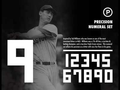 Precision Numeral Set numbers numeral set baseball numbers baseball font baseball design sports typography