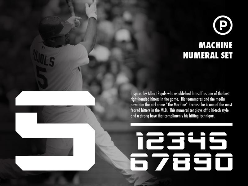 Machine Numeral Set