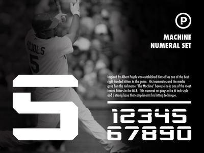 Machine Numeral Set numbers sports number numeral baseball font baseball vector branding sports typography