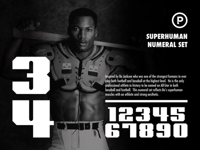 Superhuman Numeral Set numbers numeral set sports numbers sports font football baseball branding sports typography