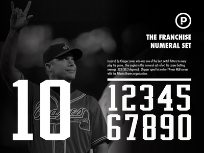 The Franchise Numeral Set sports font athletic font athletic sport numbers numeral set numbers baseball numbers baseball design sports typography